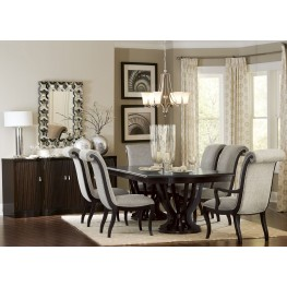 Savion Espresso Natural Tone Extendable Dining Room Set