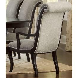 Savion Espresso Natural Tone Arm Chair Set of 2