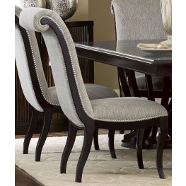 Savion Espresso Natural Tone Side Chair Set of 2