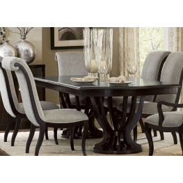 Savion Espresso Natural Tone Extendable Dining Table