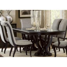 Savion Espresso Natural Tone Extendable Dining Table