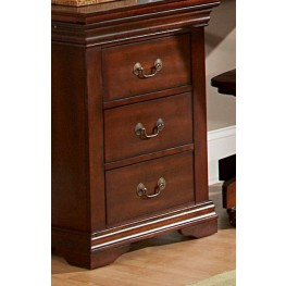 Chateau Brown Writing Desk - 3-Drawer Cabinet