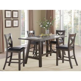 Seaford Black Counter Height Dining Room Set