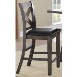 Seaford Black Counter Height Chair Set of 2