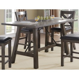 Seaford Black Counter Height Dining Table