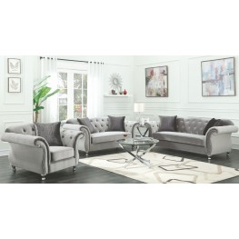 Frostine Silver Living Room Set