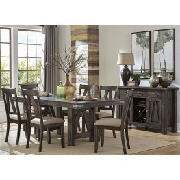 Mattawa Brown Extendable Dining Room Set