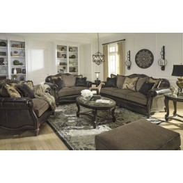 Norcastle Dark Brown Occasional Table Set