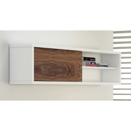 Nilo White and Walnut Wall Module