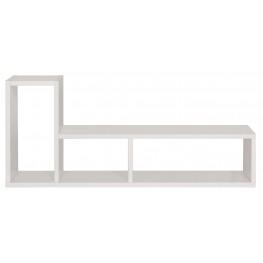 Domino White Shelving Unit