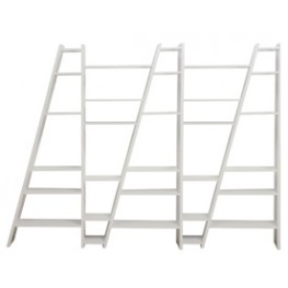Delta White 5 Piece Bookcase