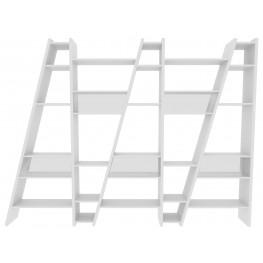 Delta White 5 Piece Bookcase with Back