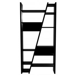 Delta Black 2 Piece Bookcase with Back