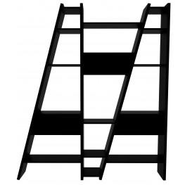 Delta Black 3 Piece Bookcase with Back