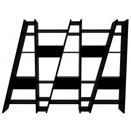 Delta Black 5 Piece Bookcase with Back