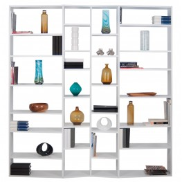 Valsa White 28 Shelf Bookcase