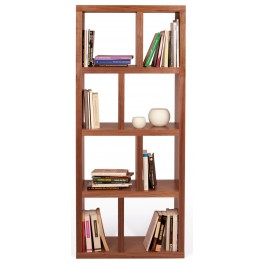Berlin Walnut 27 Inch 4 Shelf Bookcase
