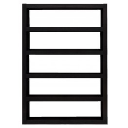 Denso Wenge Wide Single Bookcase