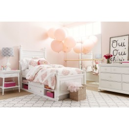 Smiling Hill Marshmallow Youth Panel Bedroom Set