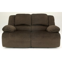 Toletta Chocolate Reclining Loveseat