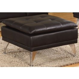 Frasier Black Ottoman from Acme Coleman Furniture