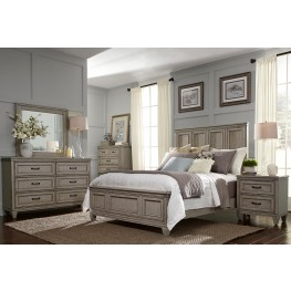 Grayton Grove Driftwood Panel Bedroom Set