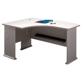 Series A Pewter 60 Inch LH L-Bow Desk