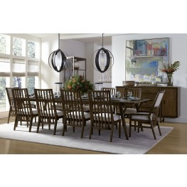 Santa Clara Burnished Walnut Rectangular Extendable Dining Room Set