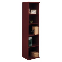 Series C Mahogany 18 Inch 5-Shelf Bookcase