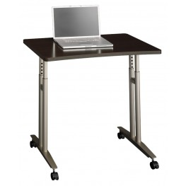 Series C Mocha Cherry Adjustable Height Mobile Table