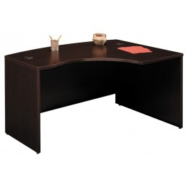WC12922 Series C Mocha Cherry 60 Inch LH L-Bow Desk Shell