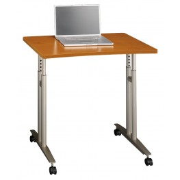 Series C Natural Cherry Adjustable Height Mobile Table
