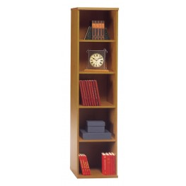Series C Natural Cherry 18 Inch 5-Shelf Bookcase