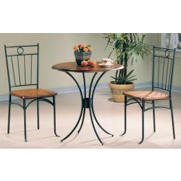 Black Bistro 3 Pcs Round Dining Table Set 5939