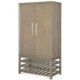 High Line Greige Bar Cabinet