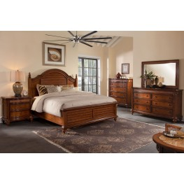 Hudson Bay Golden Brown Mansion Bedroom Set