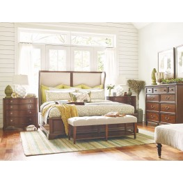 Upstate Conciare Upholstered Shelter Bedroom Set
