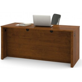 Embassy Executive Desk With Dual Half Peds In Tuscany Brown