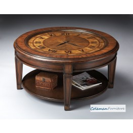 Heritage Clock Cocktail Table