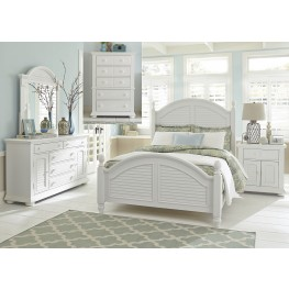 Summer House Oyster White Queen Poster Bedroom Set
