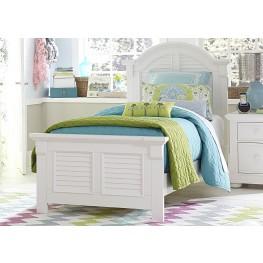 Summer House Oyster White Full Panel Bed