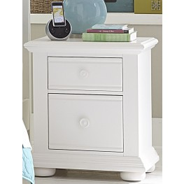 Summer House Oyster White 2 Drawer Nightstand