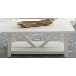 Summer House Oyster White Cocktail Table