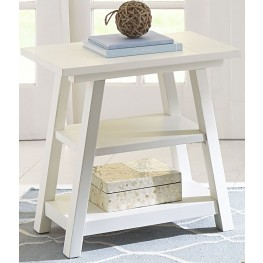 Summer House Oyster White Chair Side Table
