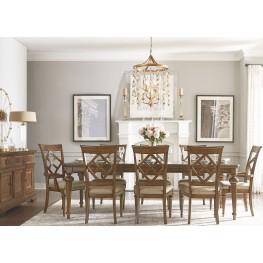 Latham Tawny Brown Extendable Leg Dining Room Set