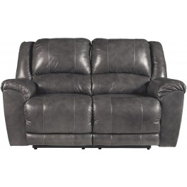 Persiphone Charcoal Reclining Loveseat
