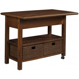 Caldwell Cappuccino Kitchen Cart