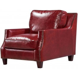 Georgetowne Oakridge Red Leather Chair