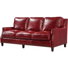 Georgetowne Oakridge Red Leather Sofa