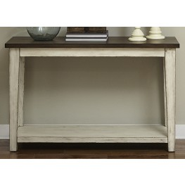 Lancaster Antique White and Brown Sofa Table